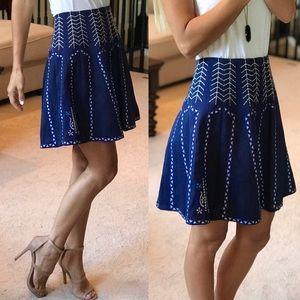 Alya Blue And White Skirt